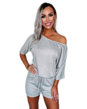 Always Lounging Romper - Heather Grey