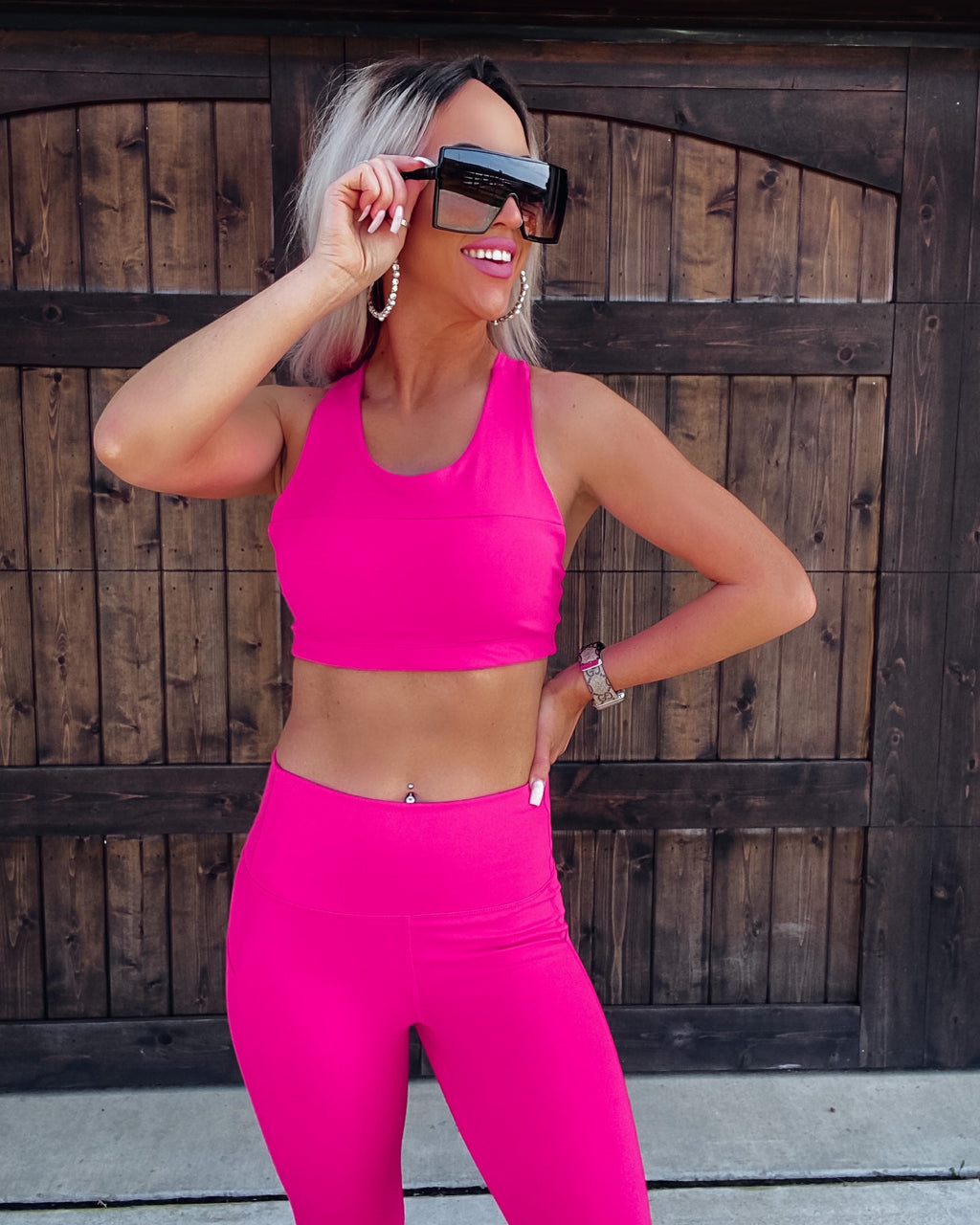 Goal Getter Sports Bra - Fuchsia