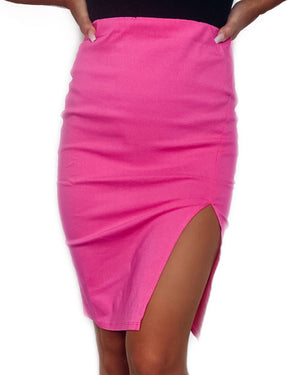 Pretty in Pink Pencil Skirt
