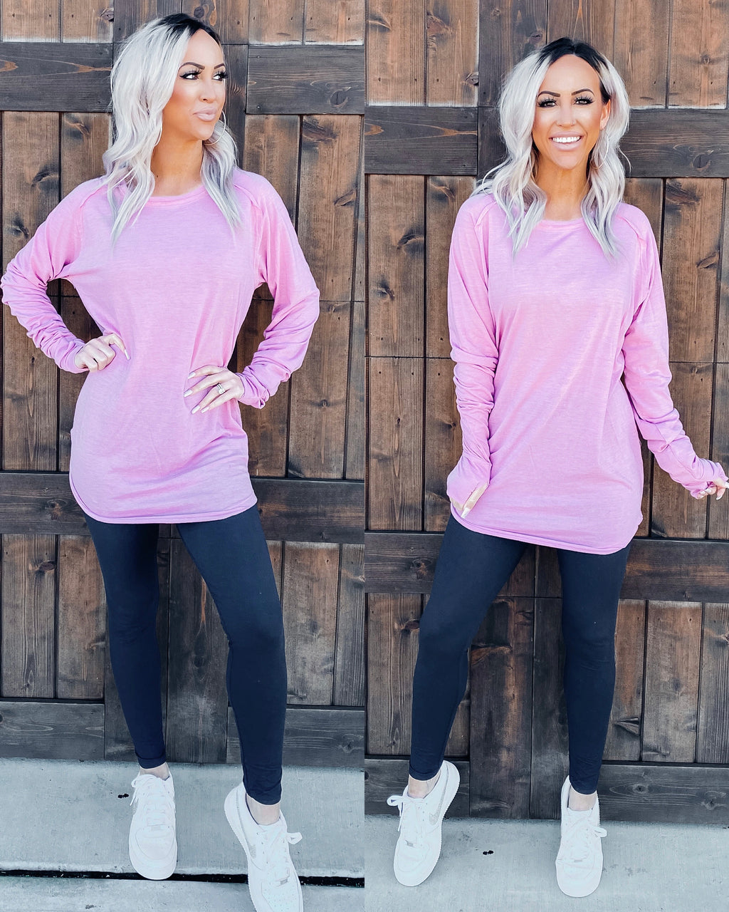Basic Babe Oversized Tunic - Light Orchid