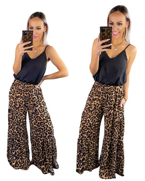 Blissful Bombshell Leopard Jumpsuit