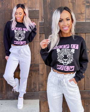 Keep It Wild Sweatshirt - Black