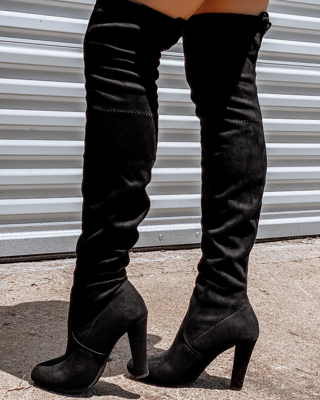 Dasia Knee High Boots - Black