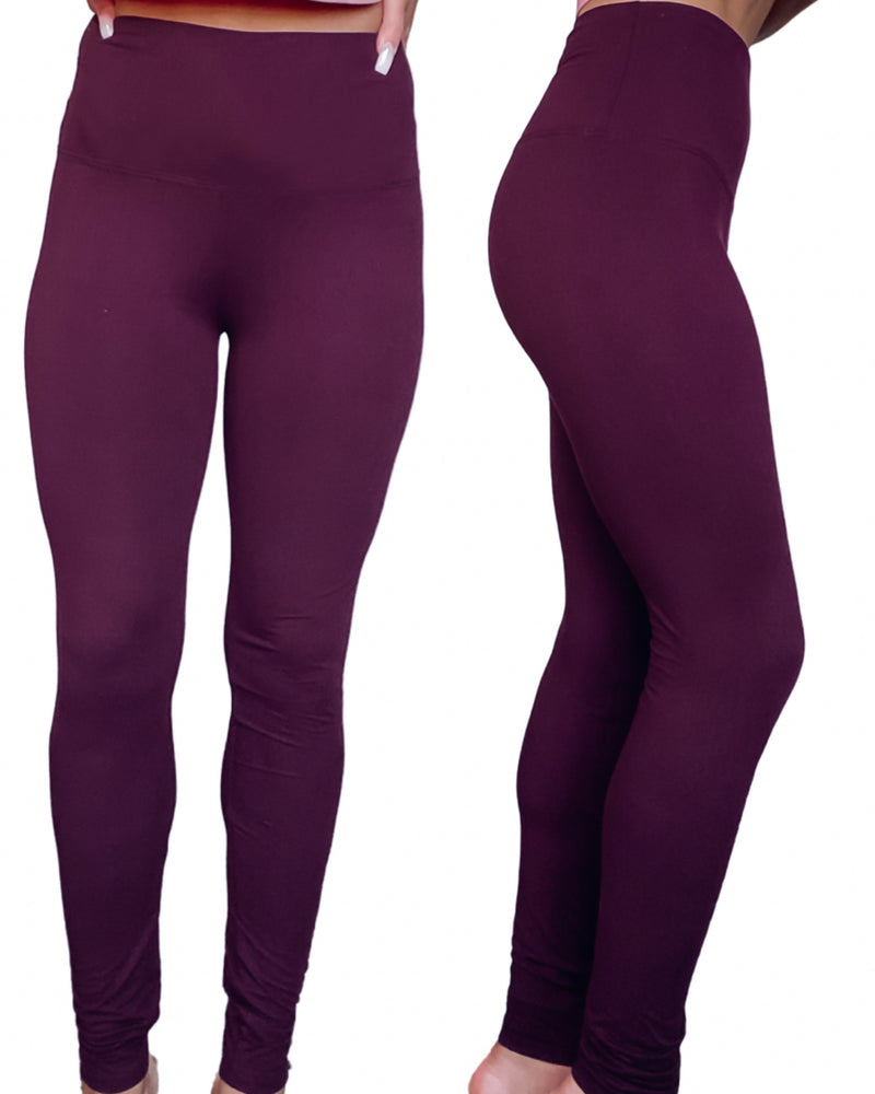 Ultimate High Waist Leggings - Dark Plum