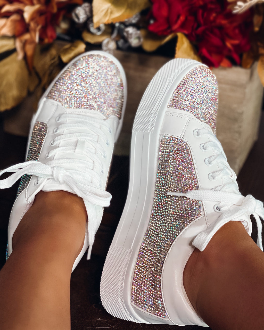 Shine Bright AB Rhinestone Sneakers