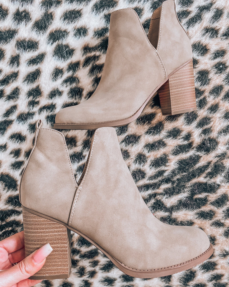 Sofia Taupe Booties
