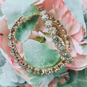Vera Diamond Hoop Earrings - Gold