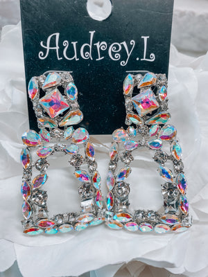 Luxury Cluster Earrings - AB