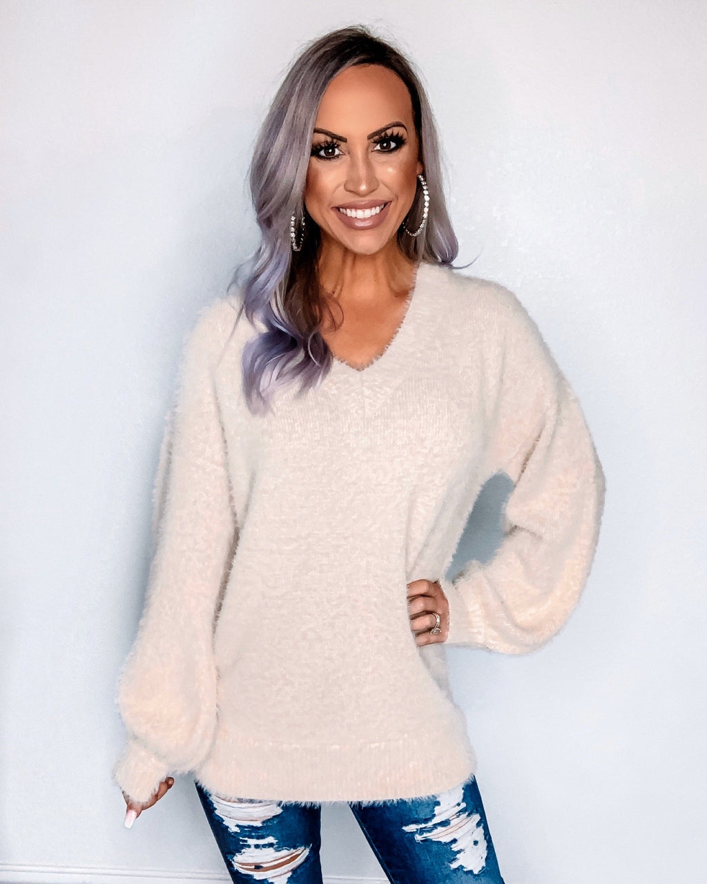 All Snuggled Up Sweater - Taupe