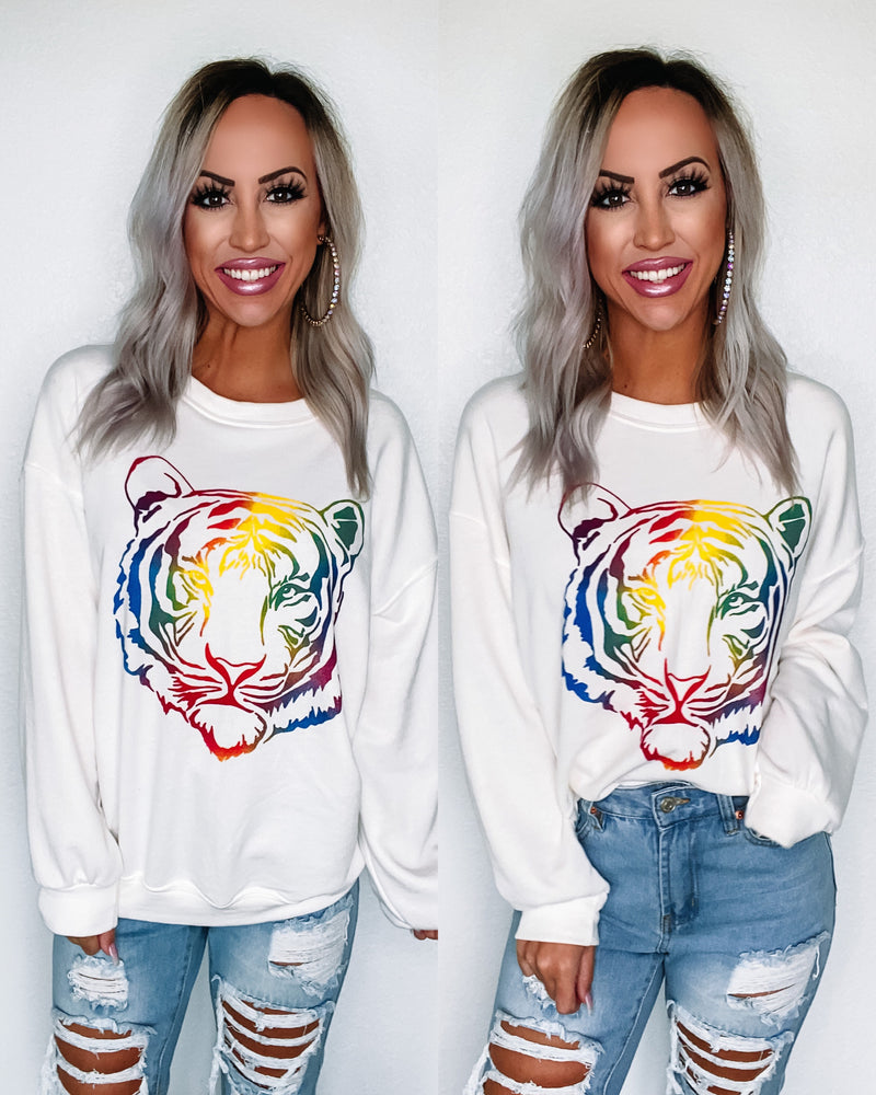 Rainbow Tiger Sweatshirts