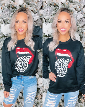 Rock Out with your Tongue Out Sweatshirt