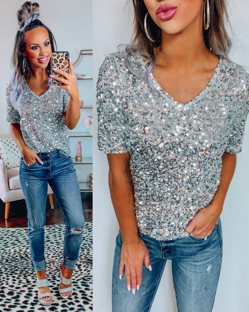 Glam Babe Sequin Top