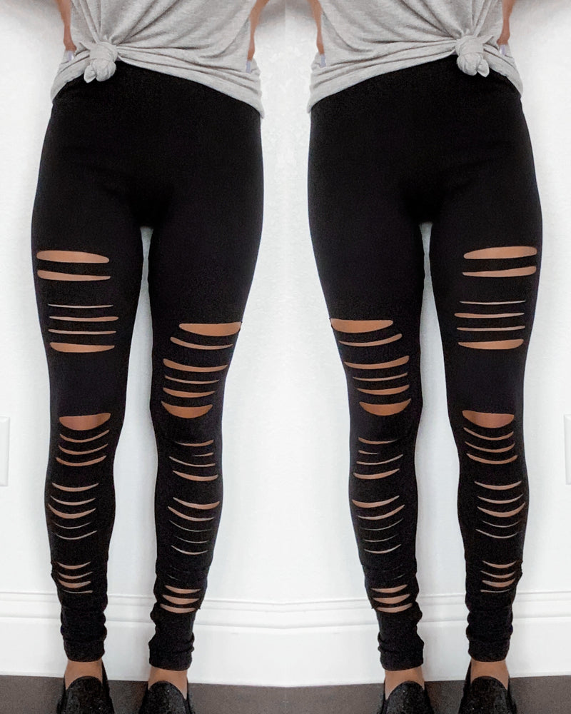 Rebel Ripped Leggings