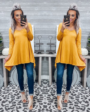 Carrying Your Love With Me Tunic - Mustard {BombDEAL}