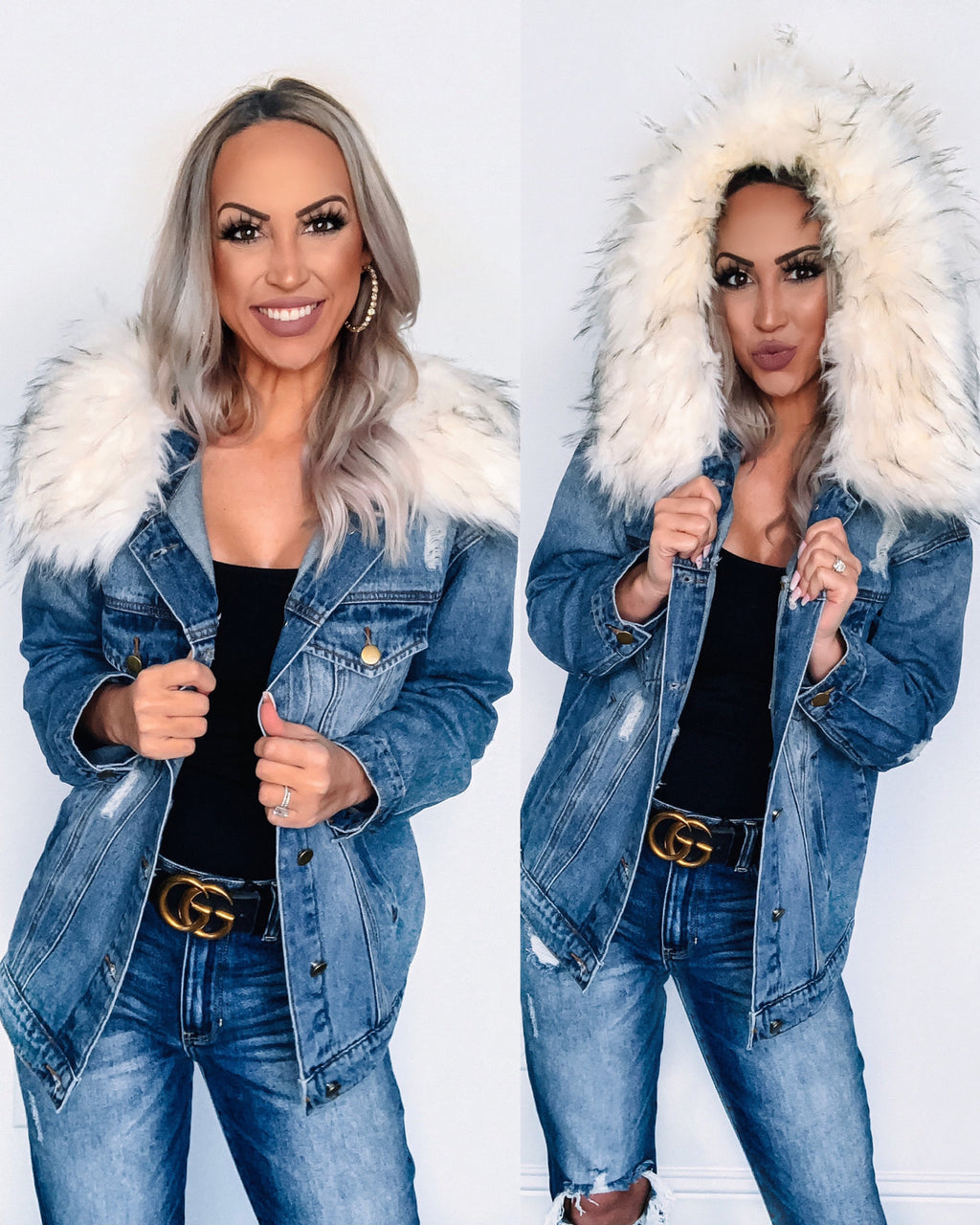Snow Bunny Denim Jacket