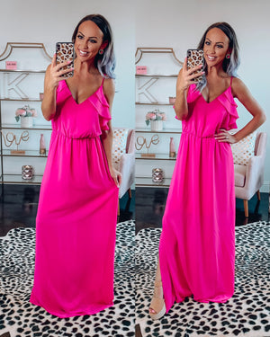 Carrying your Love With Me Maxi - Hot Pink