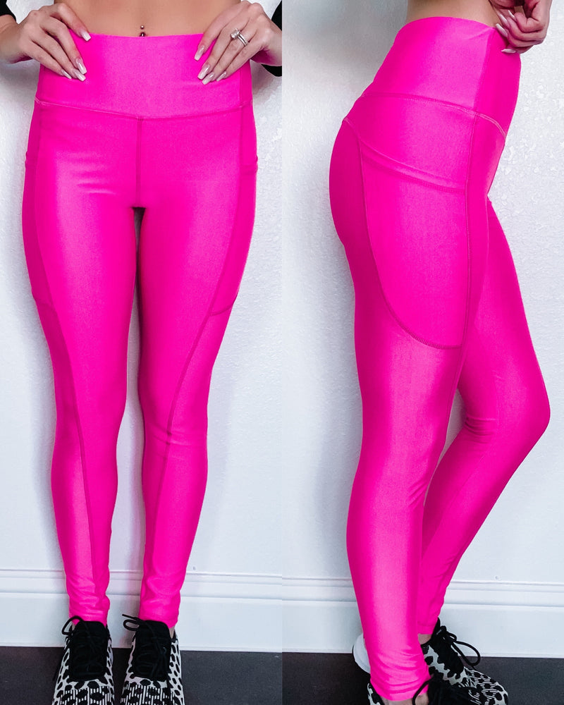 Paradise Hot Pink Leggings