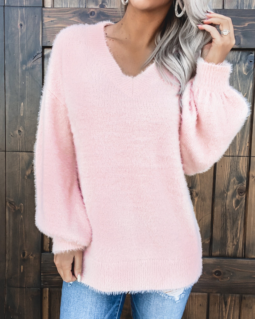 All Snuggled Up Sweater - Blush