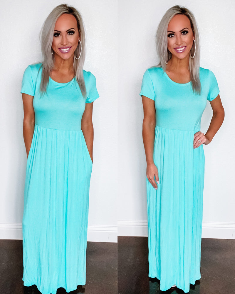 Babydoll Maxi Dress - Mint {BombDEAL}