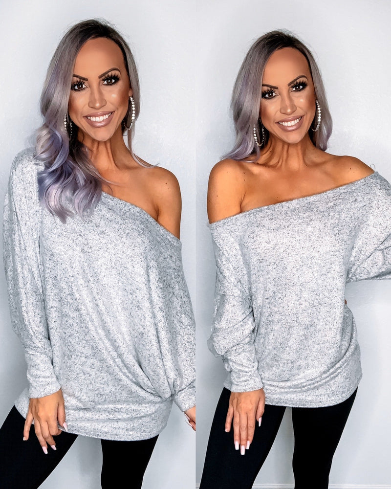 Just My Type Dolman - Grey