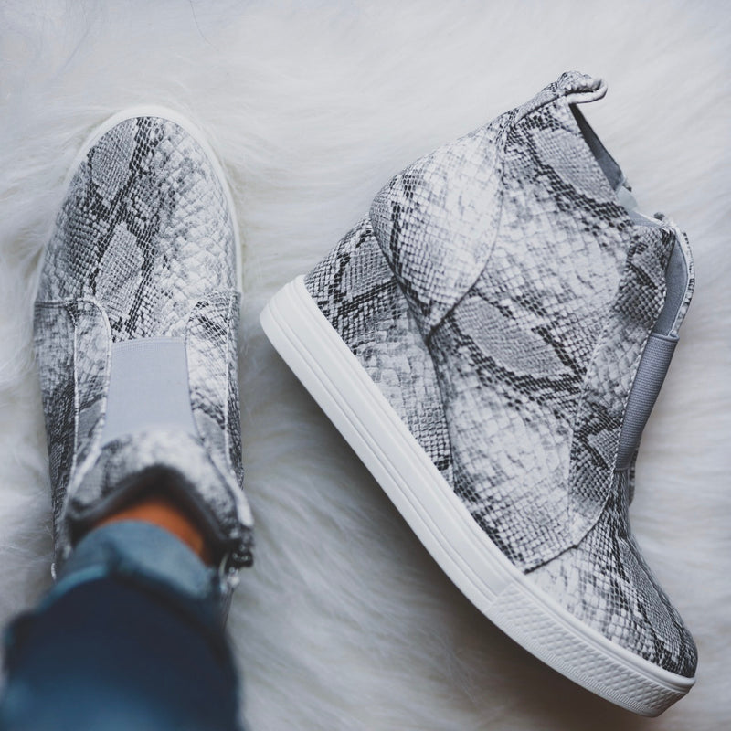 Tatum Wedge Sneakers - Snake