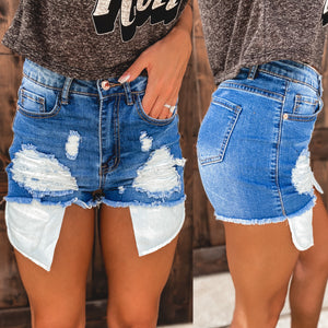 Tinley Distressed Pocket Shorts