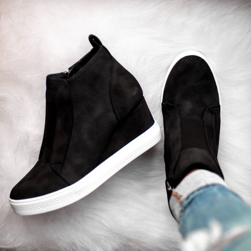 Tatum Wedge Sneakers - Black