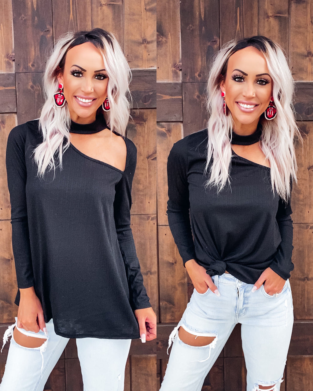 As Good As It Gets Cutout Top - Black