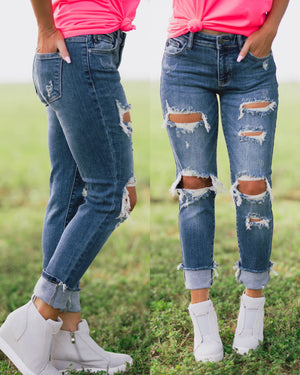 Jess Distressed Boyfriend Jeans