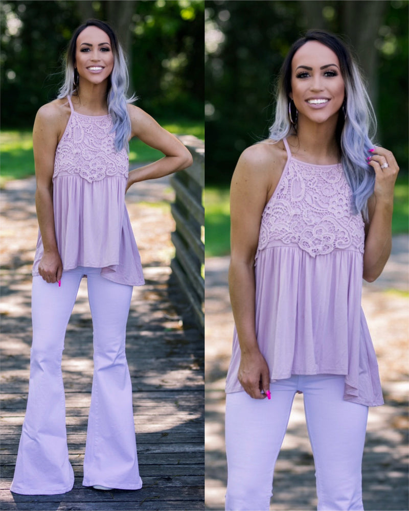 Sweet Sunshine Crochet Tank - Blush