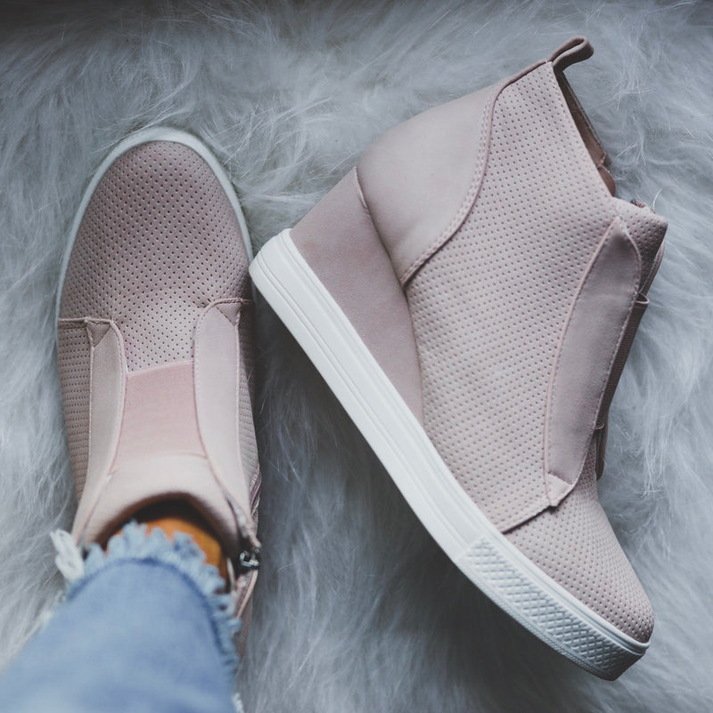 Tatum Wedge Sneakers - Blush