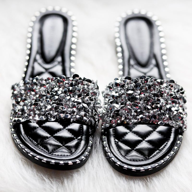Mia Rhinestone Studded Sandals