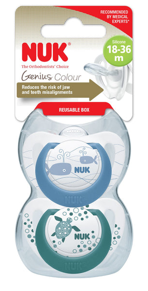 Nuk Silicone Genius Soother With Box Collection-Little Kingdom