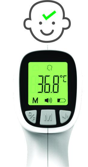 Angelcare Angelsounds Non-Contact Forehead Thermometer-Thermometer-Little Kingdom