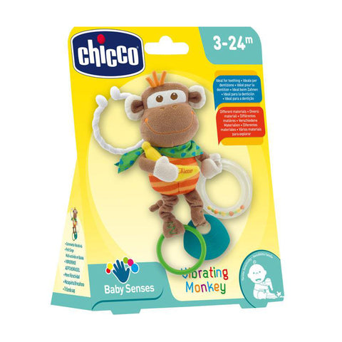 Chicco Baby Sense Vibrating Monkey-Baby Toy-Little Kingdom