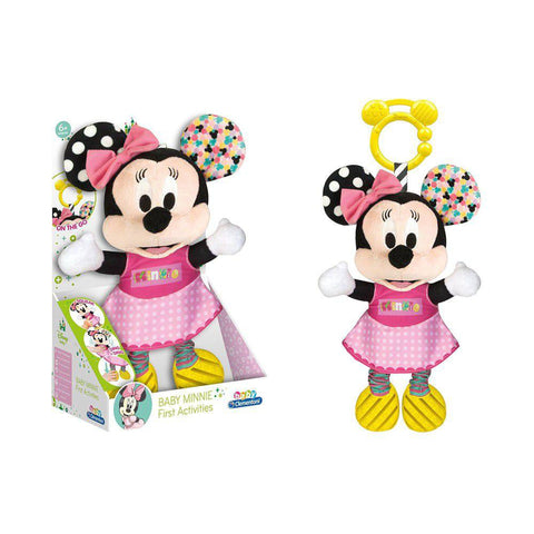 Disney Babies Minnie Basic Plush Rattle-Plush Toys-Little Kingdom