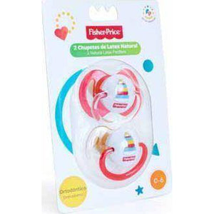 Fisher Price 2 Piece Baby Pacifier Orthodon-Soother-Little Kingdom