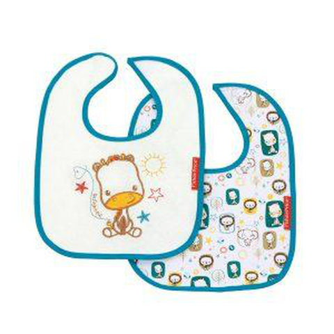 Fisher Price Set of 2 Cotton Bibs-Bibs-Little Kingdom