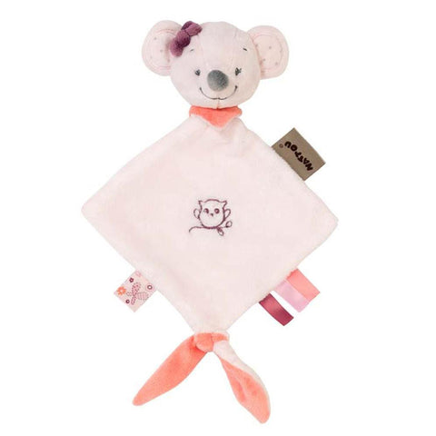Nattou Mini Doudou Valentine Mouse-Cuddly Toy-Little Kingdom