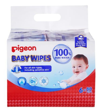 Pigeon Baby Wipes 80'S-Pigeon Baby Wipes-Little Kingdom