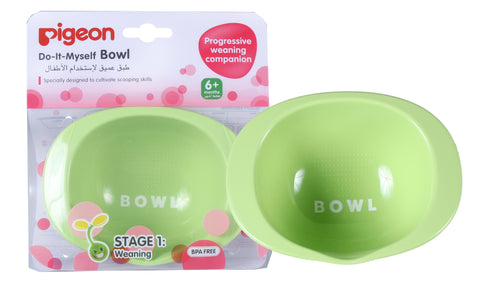 Pigeon Bowl & Weaning Spoon Set-Bowl & Weaning Spoon Set-Little Kingdom