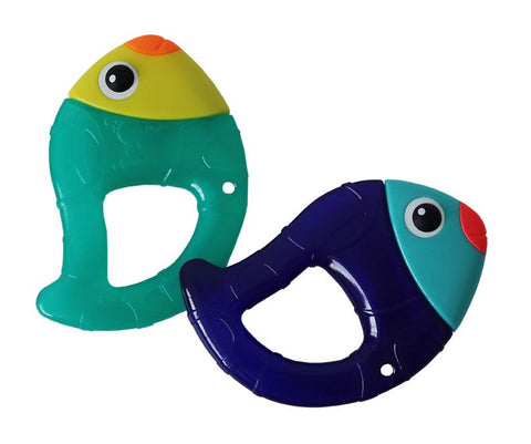 Sassy Chill N' Chirp Water Filled Teether-Fish Teether-Little Kingdom