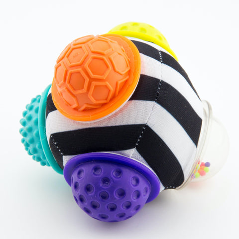 Sassy Chime & Chew Textured Ball-Textured Ball-Little Kingdom