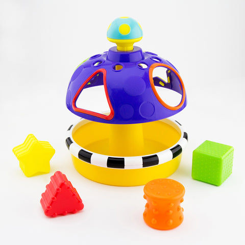 Sassy Sort N' Spin Shape Sorter-Shape Sorter-Little Kingdom