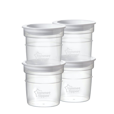 Tommee Tippee Closer to Nature Milk Storage Pots-storage bottles-Little Kingdom