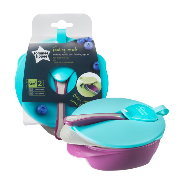 Tommee Tippee Explora Feeding Bowl With Lid-Feeding Bowl-Little Kingdom