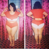 plus size woman wearing fox underwear set by knickerocker