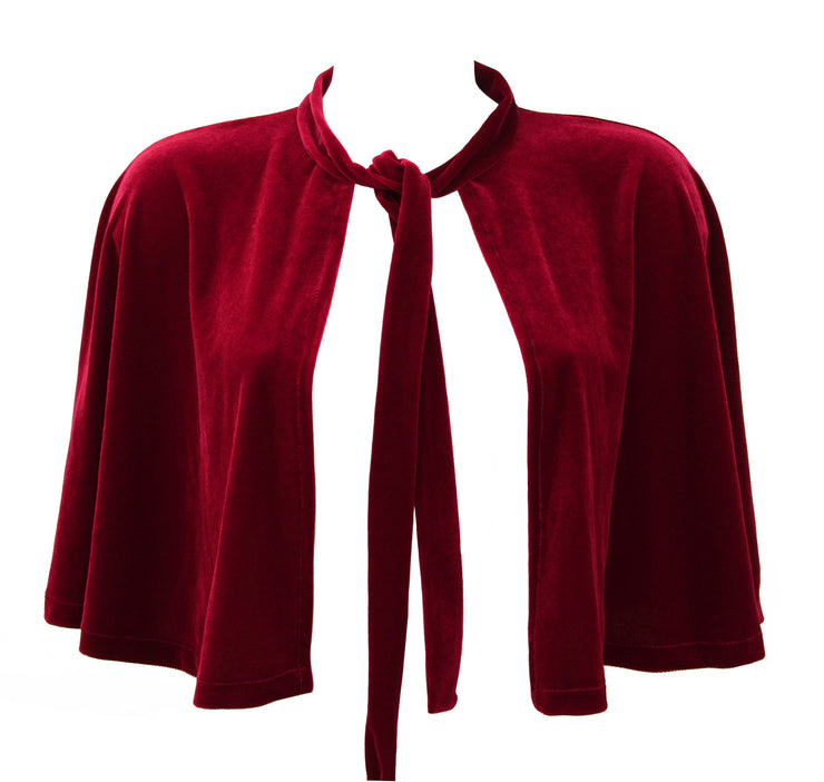 Thor Inspired Red Velvet Capelet by knickerocker