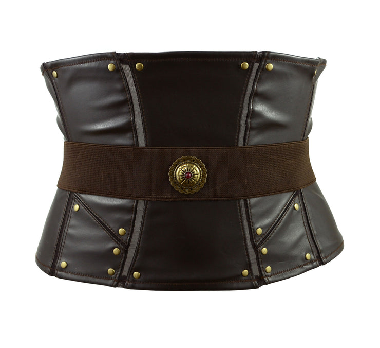 Thor Inspired Waspie Style Corset with belt by knickerocker