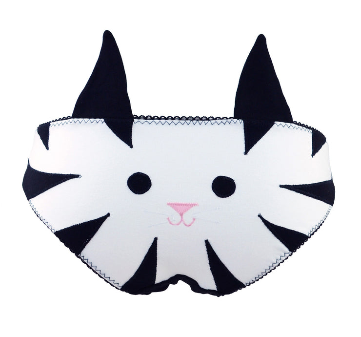 Cat face panties with ears for women who want cute lingerie by knickerocker